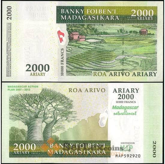 Мадагаскар 2000 ариари 2007 Р93 UNC арт. 22075