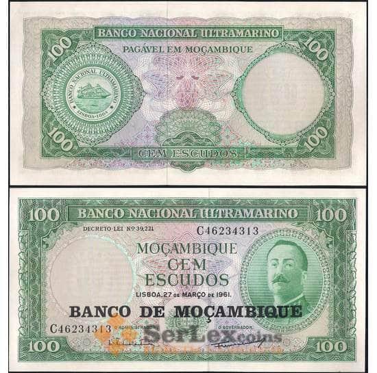 Мозамбик 100 эскудо 1961 (1976) Р117 UNC арт. 8014