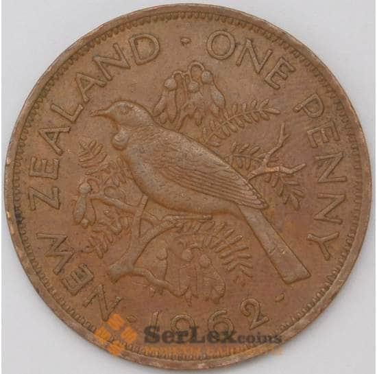 Новая Зеландия 1 пенни 1962 КМ24.2 XF арт. 22775